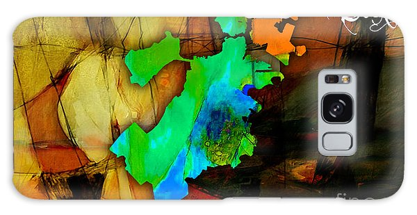 Boston Map Watercolor Galaxy Case