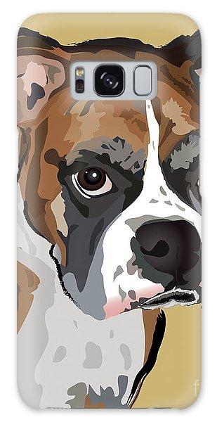 Boxer Dog Portrait Galaxy Case