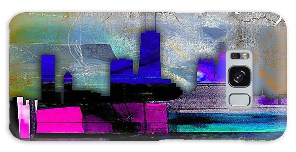 Chicago Skyline Watercolor Galaxy Case