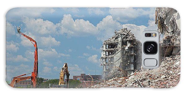 Excavator Galaxy Case - Demolition Of Detroit Housing Towers by Jim West