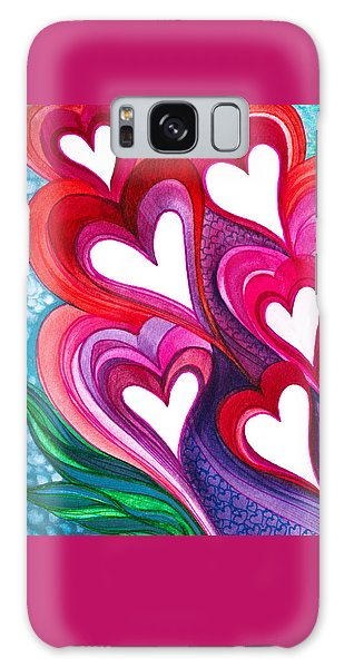 7 Hearts Galaxy Case