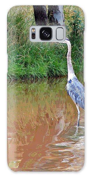 Blue Heron On The East Verde River Galaxy Case