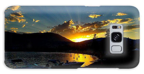 Skaha Lake Sunset Galaxy Case by Guy Hoffman