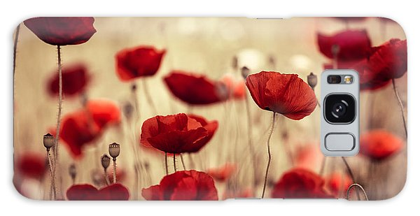 Bright Galaxy Case - Summer Poppy by Nailia Schwarz