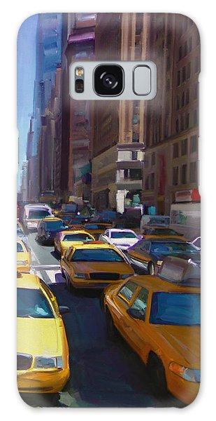 7th Avenue W36th Street Nyc Galaxy Case by Nop Briex