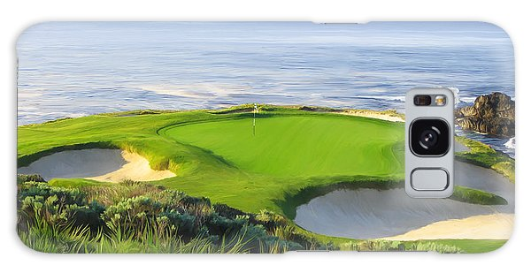 7th Hole At Pebble Beach Galaxy Case by Tim Gilliland