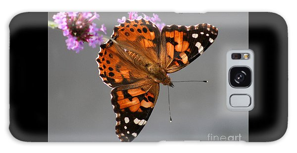 American Painted Lady Butterfly Galaxy Case