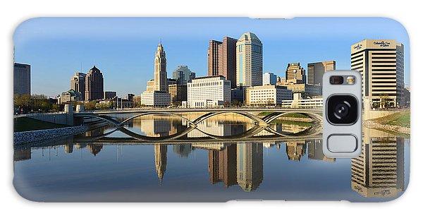 Fx1l-1058 Columbus Ohio Skyline Photo Galaxy Case