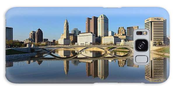 Fx1l-1058 Columbus Ohio Skyline Photo Galaxy Case