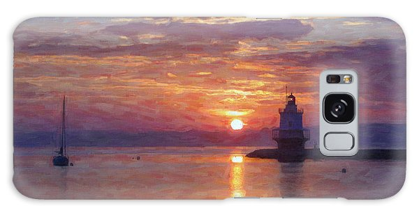 Sunrise At Spring Point Lighthouse Galaxy Case