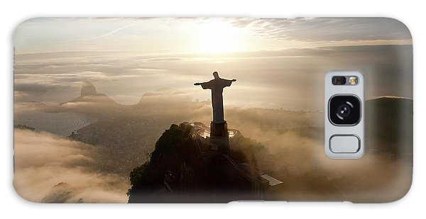 Sunrise Galaxy Case - The Art Deco Statue Of Jesus, Known by Peter Adams