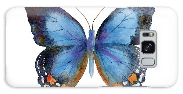 80 Imperial Blue Butterfly Galaxy Case