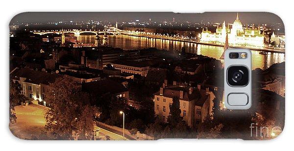 Budapest Hungary Night Panorama Galaxy Case