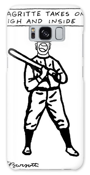 Sport Art Galaxy Case - Magritte Takes One High by Charles Barsotti