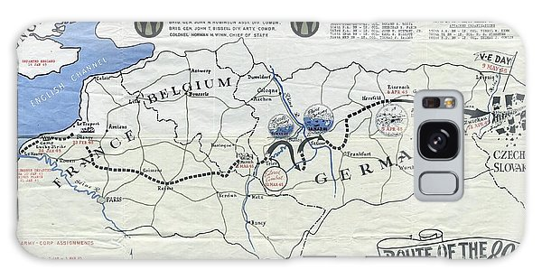 89th Infantry Division World War I I Map Galaxy Case