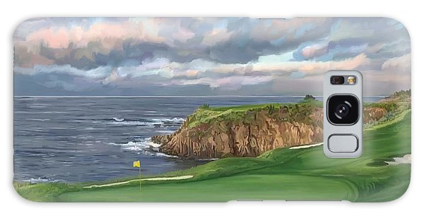 8th Hole Pebble Beach Galaxy Case by Tim Gilliland