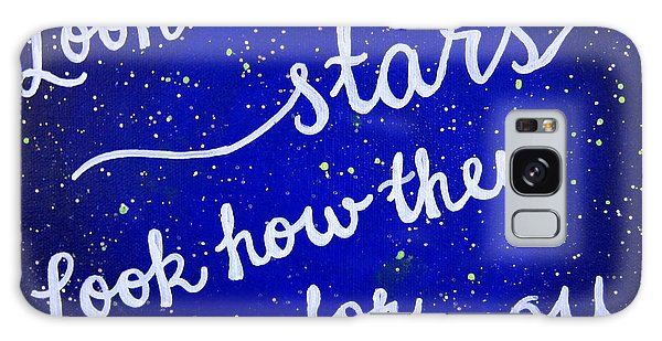 8x10 Look At The Stars Galaxy Case
