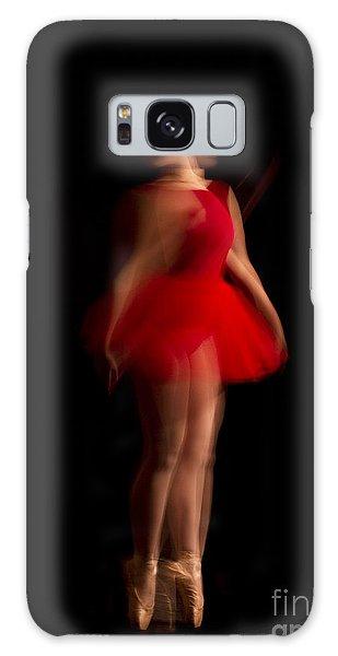 Ballet Dancer In Red Tutu Galaxy Case