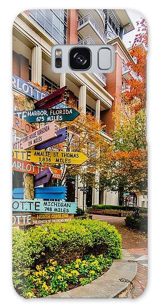 Charlotte City Skyline Autumn Season Galaxy Case