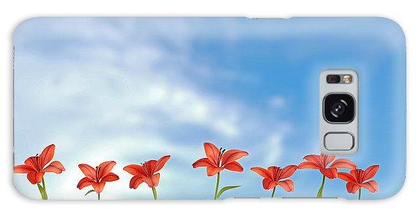 9 Lilies Galaxy Case