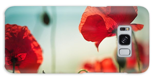 Bright Sun Galaxy Case - Summer Poppy by Nailia Schwarz