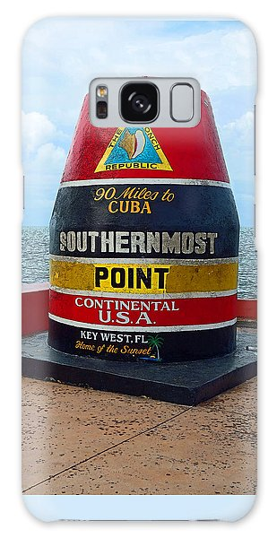 Southernmost Point Key West - 90 Miles To Cuba Galaxy Case by Rebecca Korpita