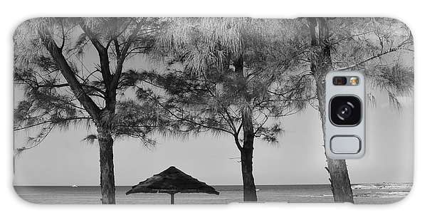 A Bahamas Scene In Black And White Galaxy Case