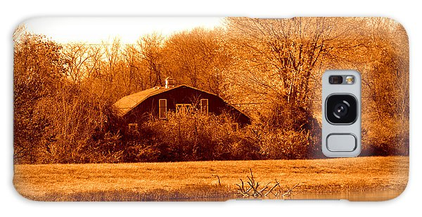 A Barn On The Lake Galaxy Case by Karen Kersey