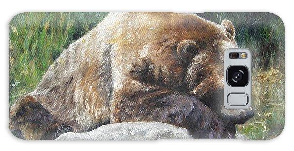A Bear Of A Prayer Galaxy Case by Lori Brackett
