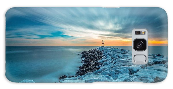 A Beautiful Sunrise At The Old Scituate Lighthouse Galaxy Case