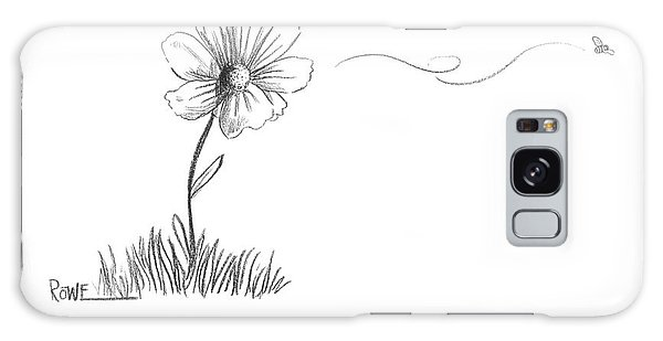 A Bee Flying Away From A Daisy After Pollination Galaxy Case