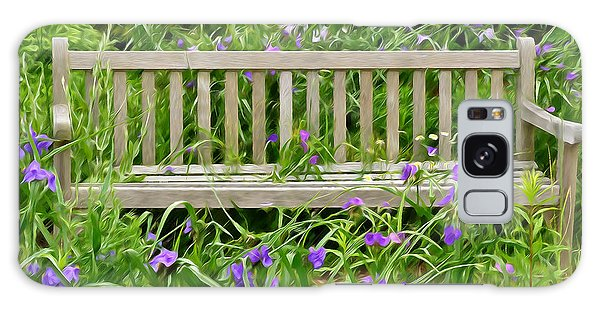 A Bench For The Flowers Galaxy Case