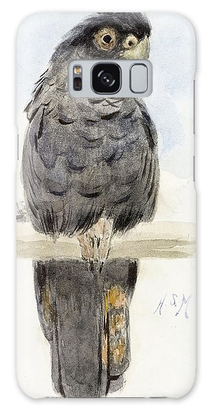 Cockatoo Galaxy S8 Case - A Black Cockatoo by Henry Stacey Marks