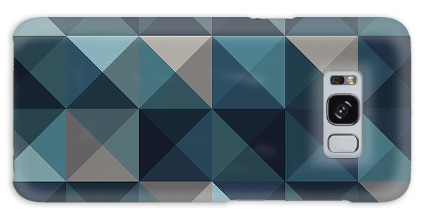 Art Deco Galaxy S8 Case - A Blue Abstract Vector Pattern by Mike Taylor