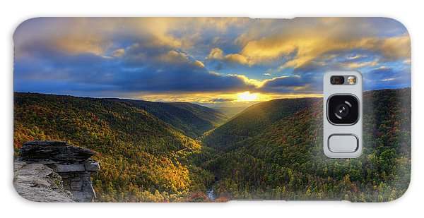 Galaxy Case featuring the photograph A Blue And Gold Sunset by Dan Friend