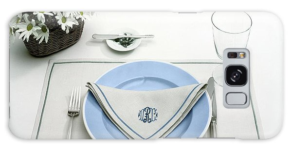 A Blue Table Setting Galaxy Case