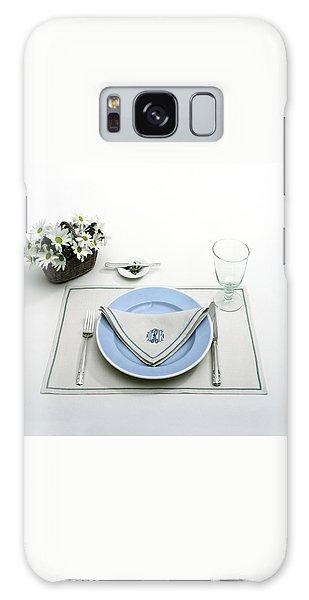 A Blue Table Setting Galaxy Case