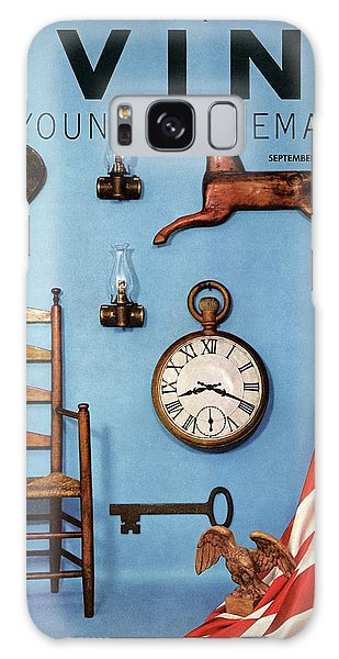 A Blue Wall With Decorations Galaxy Case