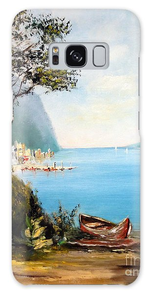 A Boat On The Beach Galaxy Case