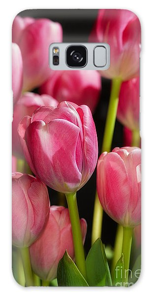 A Bouquet Of Pink Tulips Galaxy Case