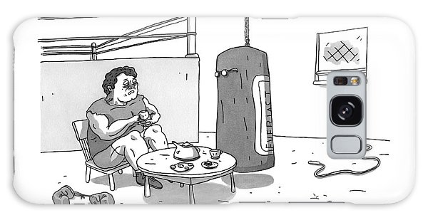 A Boxer Has A Tea Cup Party With A Punching Bag Galaxy Case