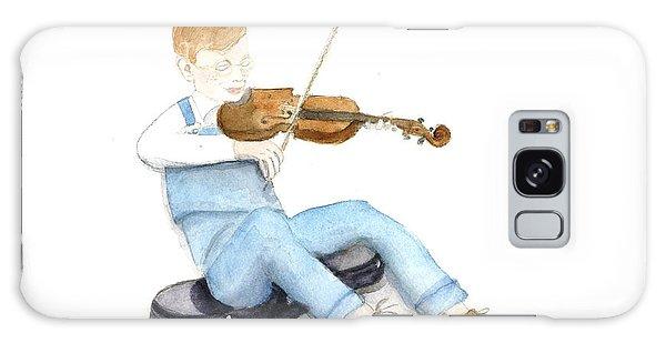 A Boy And His Violin Galaxy Case