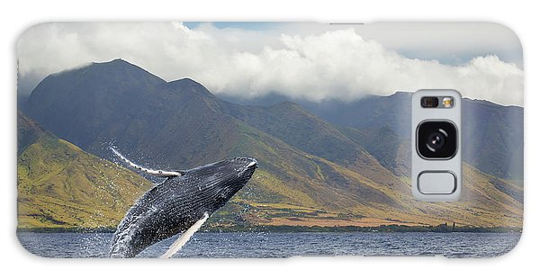 Islands In The Sky Galaxy Case - A Breaching Humpback Whale  Megaptera by Dave Fleetham