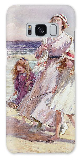 Breeze Galaxy Case - A Breezy Day At The Seaside by William Kay Blacklock