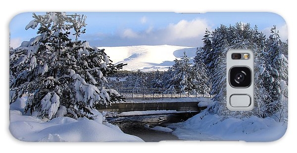 A Bridge In The Snow Galaxy Case by Jacqi Elmslie