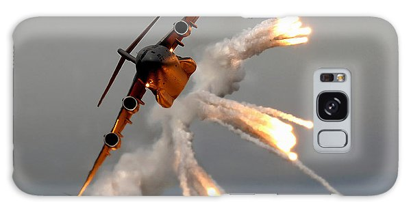 Galaxy Case featuring the photograph A C-17 Globemaster IIi Releases Flares by Stocktrek Images