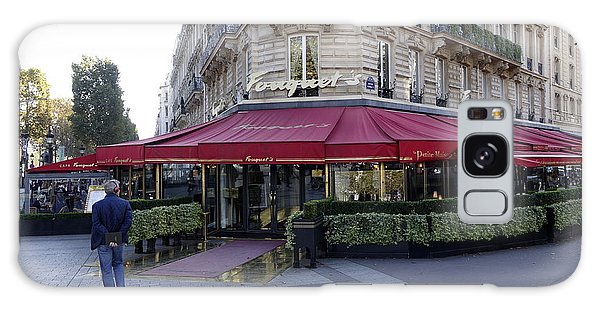 A Cafe On The Champs Elysees In Paris France Galaxy Case