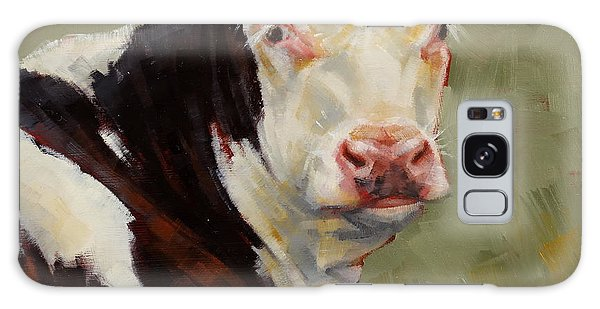 A Calf Named Ivory Galaxy Case by Margaret Stockdale