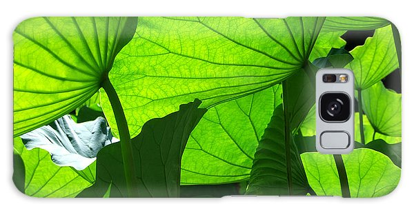 A Canopy Of Lotus Leaves Galaxy Case by Larry Knipfing