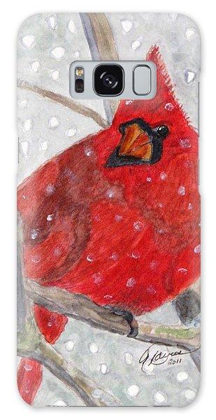 A Cardinal Winter Galaxy Case